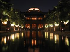 The Palace at the OneOnly Royal Mirage, Dubai, UAE, by night. (taken by me) #Dubai