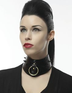 BDSM collar, leather BDSM discreet day collar, spiked collar, fetish collar, black leather collar with o-ring Black Leather Corset, Leather Collar, Real Leather, Day Collar, Neck Collar, Leather Handcuffs, O Ring Choker, Collars Submissive, Ring Der O