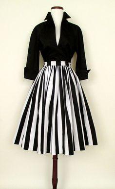 1950's Paris Skirt & Lauren Bacall Blouse | Catnip Reproduction Vintage Clothing