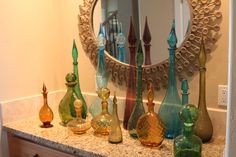 I have a collection of these mid-century decanters. But what did people put in them in the 60s?