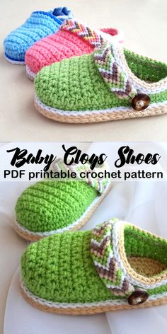 Baby Clog Shoe Crochet Pattern Make these super cute shoes great for a boy or girl Makes a great baby gift baby shoes crochet patterns baby gift crochet pattern pdf amorecraftylife crochet crochetpattern baby Crochet Baby Sandals, Baby Girl Crochet, Crochet For Boys, Crochet Slippers, Free Crochet, Clog Slippers, Booties Crochet, Free Knitting, Crochet Shoes Pattern
