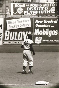 Jackie Robinson at Ebbets Field Jackie Robinson, Dodgers Baseball, Baseball Players, Baseball Photos, Basketball Pictures, Baseball Stuff, Sports Photos, Baseball Cards, Baseball Series