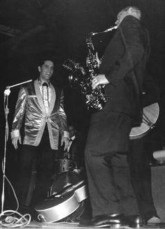 Boots Randolph and Elvis (USS Arizona Memorial benefit concert 1961)