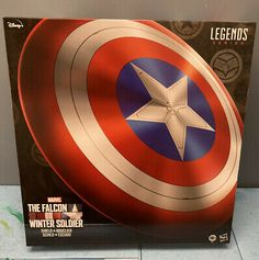 Captain America Shield Falcon And Winter Soldier Marvel Legends Series Avengers | eBay The Original Avengers, Captain America Shield, Marvel Legends Series, Ebay Auction, Winter Soldier, Marvel Characters, Lab, Things To Sell, Labs