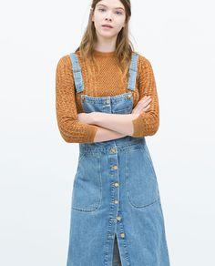 Image 2 of DENIM BIB-FRONT DUNGAREE DRESS from Zara