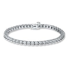 Diamond Bracelet 1 ct tw Round-cut 10K White Gold