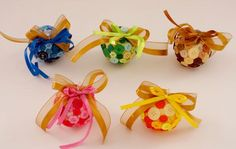 diy christmas ornaments decorations buttons foam balls ribbons