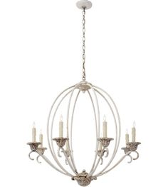 Visual Comfort NW5200BW Niermann Weeks Verrocchio 8 Light 34 inch Belgian White Chandelier Ceiling Light, Niermann Weeks, Medium photo