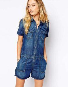 Pepe Jeans | Denim Romper #PepeJeans #denim #romper