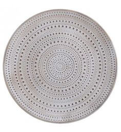 WOODEN PLATE IN BEIGE_WHITE D44X4