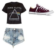 """pink Floyd daily"" by texastator on Polyvore featuring Floyd, One Teaspoon, Converse, women's clothing, women, female, woman, misses and juniors"