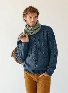 Cat. 13/14 - #731 - Cable Sweater by Bergère de France