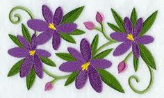 simple embroidered crocus - Google Search