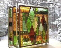 Stained Glass Light Block Mosaic Nightlight