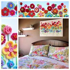 Crochet Flowers Easy Crochet Button Flowers Video Lots Of Free Patterns Crochet Diy, Crochet Home Decor, Love Crochet, Crochet Motif, Crochet Crafts, Crochet Projects, Diy Crafts, Crochet Flower Patterns, Crochet Flowers