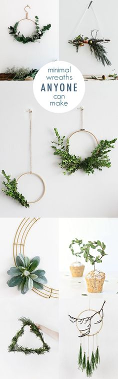 Keep it simple this winter with minimal DIY wreath ideas so easy that anyone can make them. Pretty enough to leave up until spring!