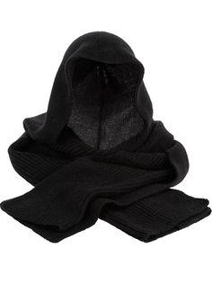 ann demeulemeester hooded scarf - black
