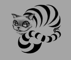 Cheshire cat tattoo design by *Gabriela-Birchal on deviantART
