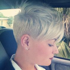 Overdirected Pixie Cut-looks like maybe a clipper guard #4 into a 6 and then overdirecting starting at the crown and bringing all the hair to the back for added length in front. Texturized razor bang