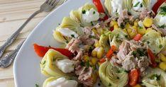 alcachofas de lata, ensalada de alcachofas en conserva atún, ensaladas sanas, ensaladas sencillas, Julia y sus recetas
