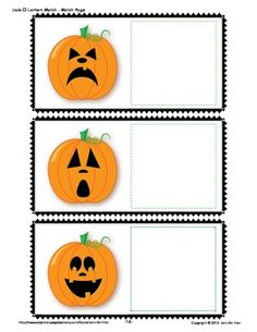 Make a Jack-o-Lantern match activity book.