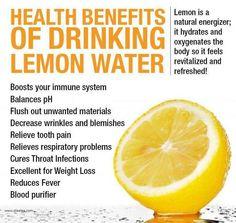 Benefits to drink lemon water