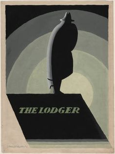 The Lodger / Poster by E. McKnight Kauffer / 1926 / MoMa ... love this minimalist design