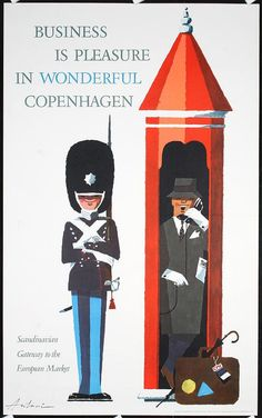 Business is pleasure in wonderful Copenhagen - Danemark - 1962 - (Antonio) -