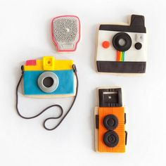 camera cookies!  I might have to make these into salt dough ornaments at christmas!