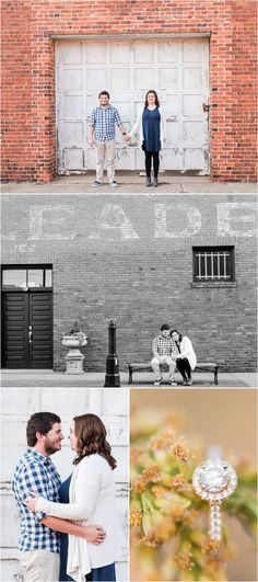 Downtown Greer Engagement Session in Greer, South Carolina