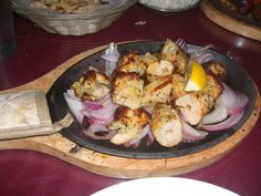 Chicken Malai on a sizzling platter... reminder to try this when in Maui at Monsoon India.
