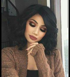 34 Fascinating Fall Makeup Ideas for this Autumn - Glam - Makeup Glam Makeup, Cute Makeup, Pretty Makeup, Makeup Tips, Makeup Tutorials, Fall Makeup Looks, Makeup Hacks, Winter Makeup, Makeup Products