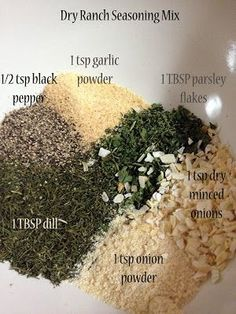 Recipe for Dry Ranch Seasoning Mix.  Look under the recipe tab on the website and scroll down past several recipes before you find this..