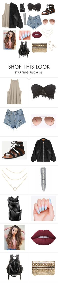 """""""Untitled #95"""" by heresnana on Polyvore featuring Charlotte Russe, Alexander Wang, Karapetyan, Eddie Borgo, Lime Crime and Skemo"""