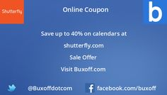 Latest shutterfly Coupon on Buxoff Visit to know more