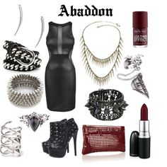 Outfit inspired by Supernatural character Abaddon, Knight of Hell by shadowsintime on Polyvore
