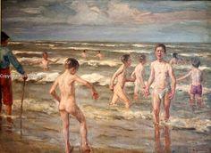 Badende Jungen by Max Liebermann at Markisches Museum