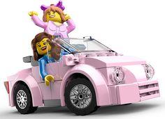 Pink Car 3D Render - Lego City Undercover (Wii U)