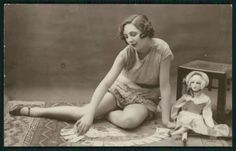 Flapper with French Boudoir Doll