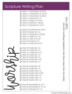 the scripture writing plan this month is on the topic of