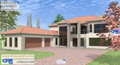 RDM5 House Plan No W1765 Architecture Artists, Architecture Design, Double Storey House Plans, African House, My Dream Home, Dream Homes, Site Plans, Garage Plans, House 2
