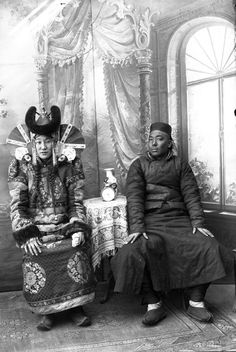 vintage everyday: Vintage Mongolian Clothing – Old Photos of Khalkha Women in Their Traditional Costumes in the early 1900s