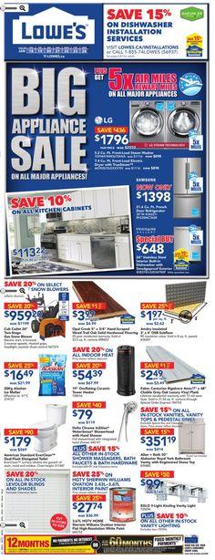 Lowe's Canada Weekly Ad Jan 18-24, 2018 http://www.weeklyadspecials.com/lowes-canada-weekly-ad/