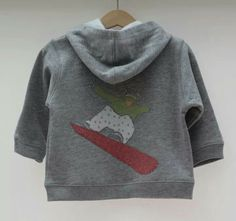 Personalised baby's snowboarder hoodie by Titchy.net