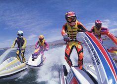 Vintage jetski Jet Ski Kawasaki, Kawasaki Jetski, Types Of Races, Jet Skies, Us Navy Ships, Vintage Ski, Sport Body, Freestyle, Extreme Sports