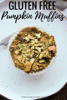 Gluten Free Pumpkin Muffins with Pistachio Crumble