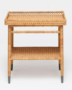 Elegant Rattan Bedside Tables
