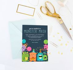 Hey, I found this really awesome Etsy listing at https://www.etsy.com/listing/522415839/monster-birthday-invitation-little