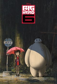 19 Pieces Of Fan Art That Prove Baymax Is Your New Fave Character.  Totoro style xD