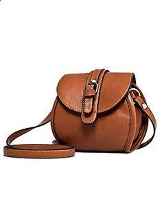 Jollychic Women's Vintage Small Fashion Simple Cross-Body Handbags Mini Coin Purse Brown. Visit website to read more description.
